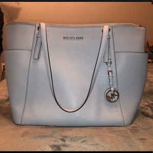 Michael Kors baby blue medium bag